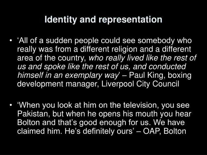 Identity and representation