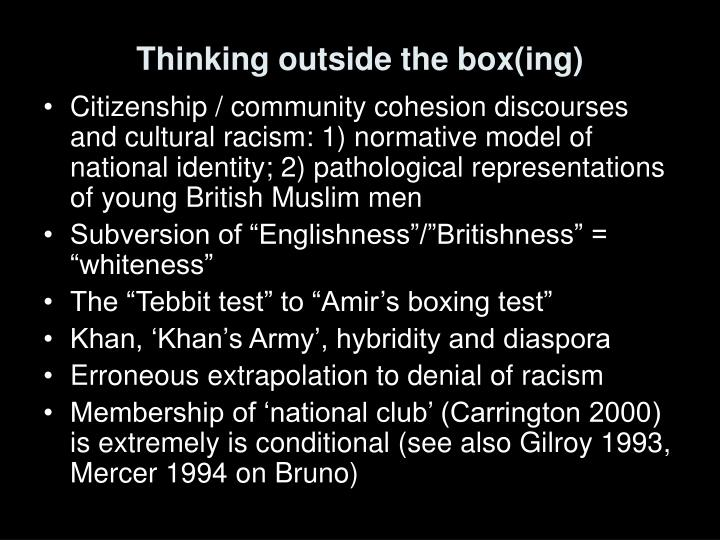 Thinking outside the box(ing)