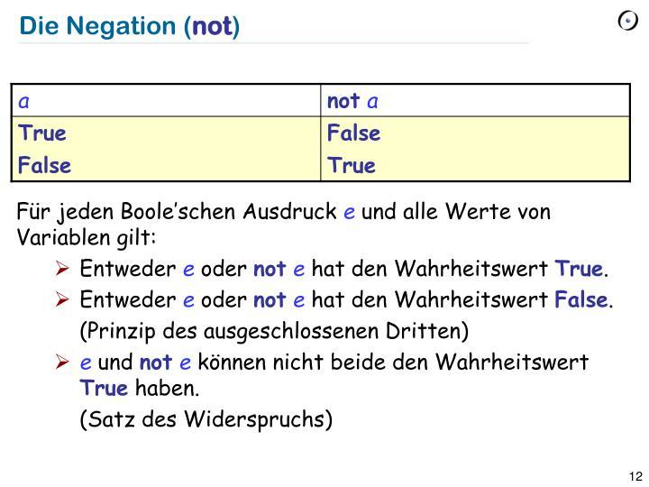 Die Negation (
