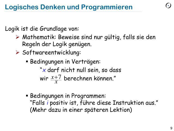 Logisches Denken und Programmieren