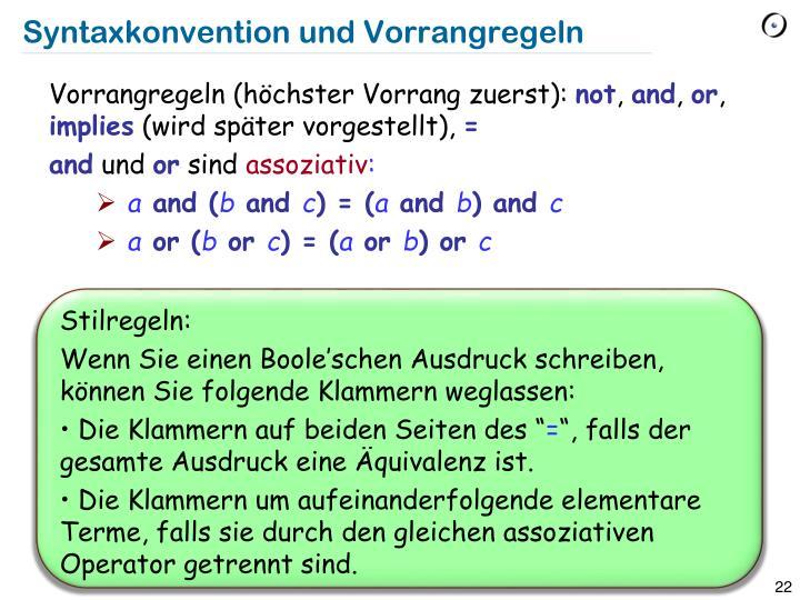 Syntaxkonvention