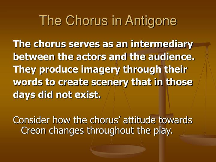The Chorus in Antigone