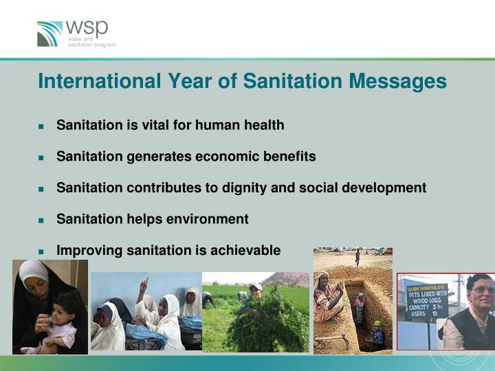 International Year of Sanitation Messages