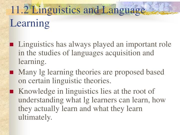 11.2 Linguistics and Language Learning