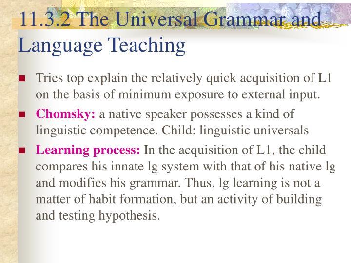 11.3.2 The Universal Grammar and Language Teaching