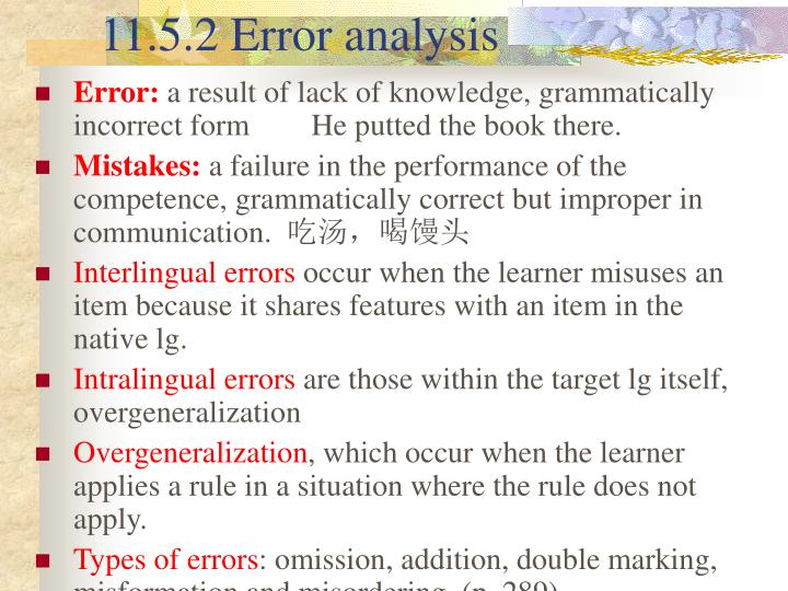11.5.2 Error analysis