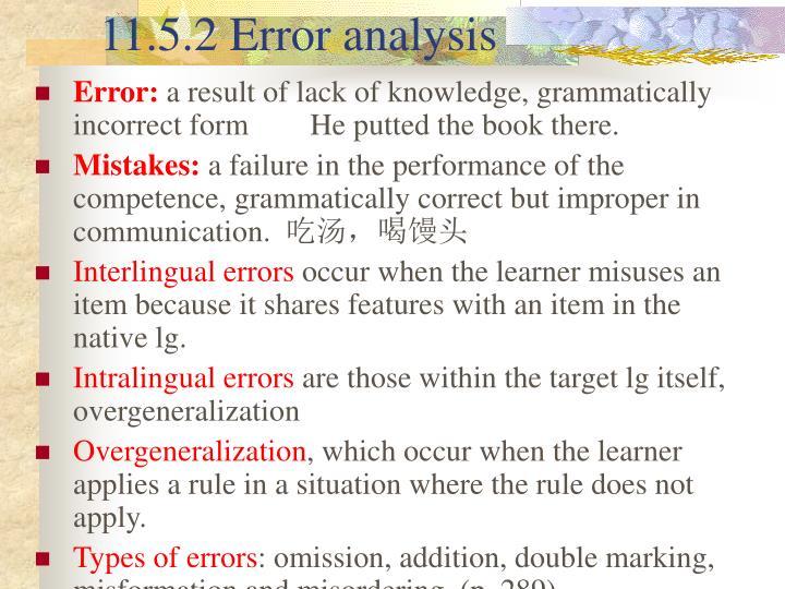 11.5.2 Error analysis