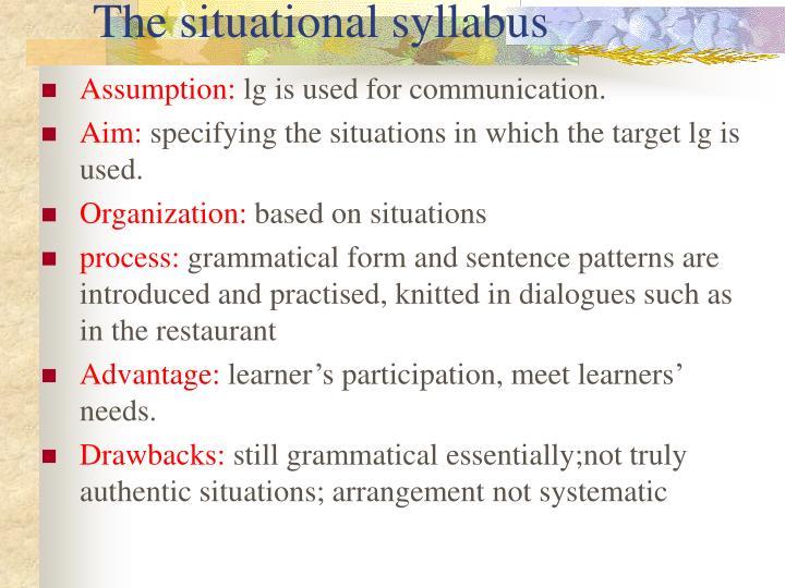 The situational syllabus