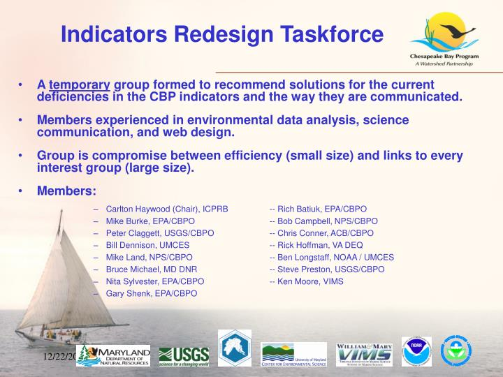 Indicators Redesign Taskforce