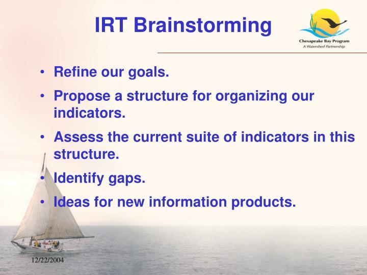 IRT Brainstorming