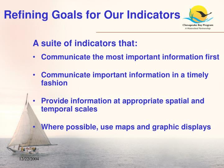 Refining Goals for Our Indicators