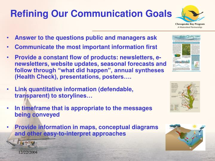 Refining Our Communication Goals