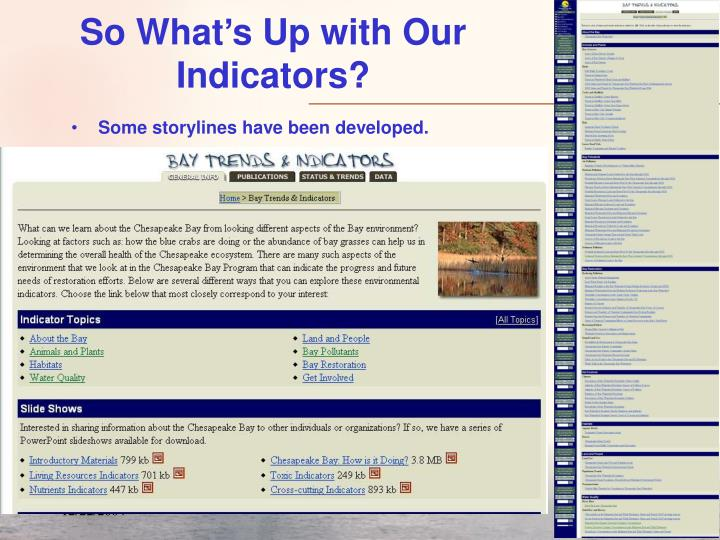 So What's Up with Our Indicators?