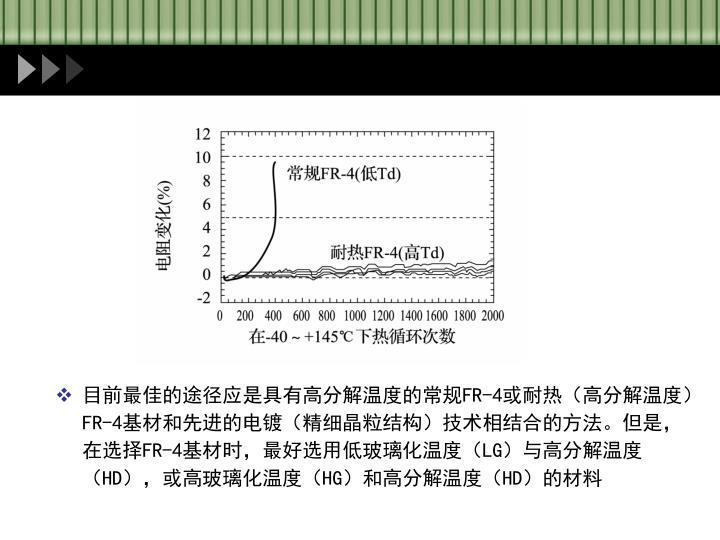 目前最佳的途径应是具有高分解温度的常规