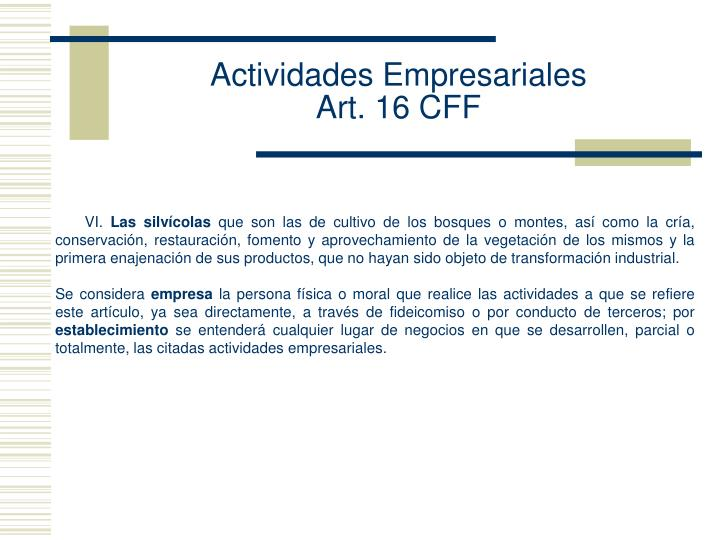 Actividades Empresariales