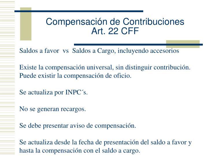 Compensación de Contribuciones