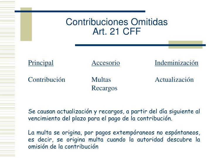 Contribuciones Omitidas