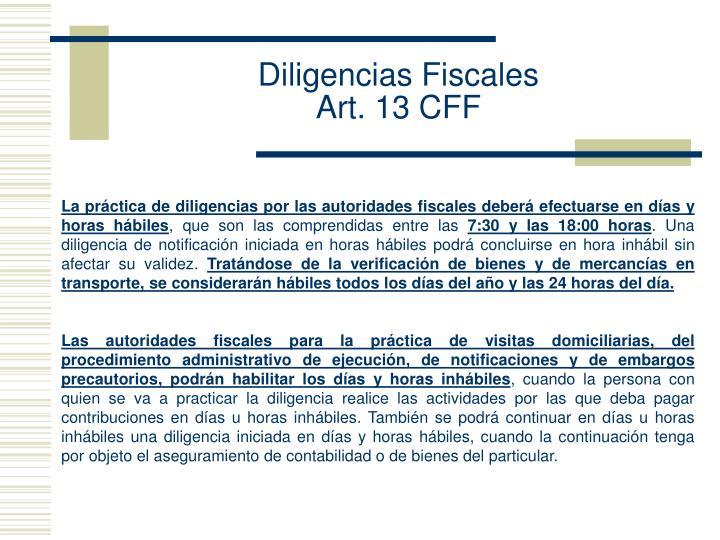 Diligencias Fiscales
