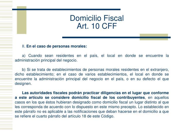 Domicilio Fiscal