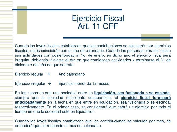 Ejercicio Fiscal