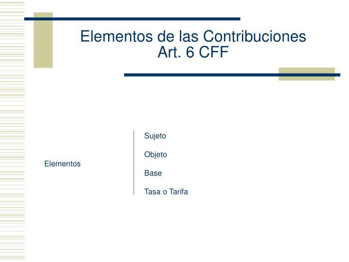 Elementos de las Contribuciones