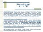 plazos fiscales art 12 cff1