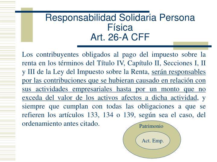Responsabilidad Solidaria Persona Física