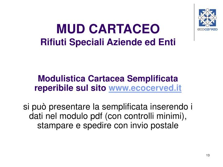 MUD CARTACEO