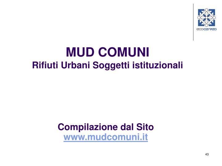 MUD COMUNI