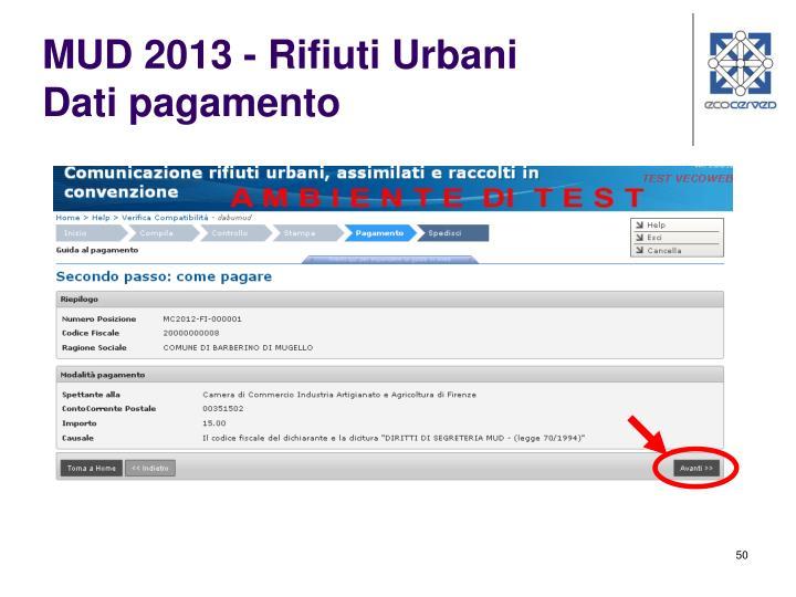 MUD 2013 - Rifiuti Urbani