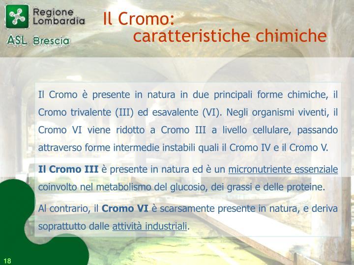 Il Cromo: caratteristiche chimiche