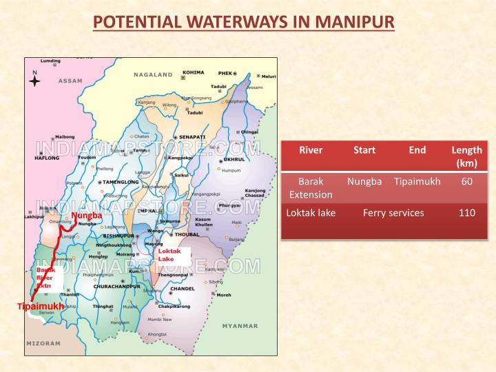 POTENTIAL WATERWAYS IN MANIPUR