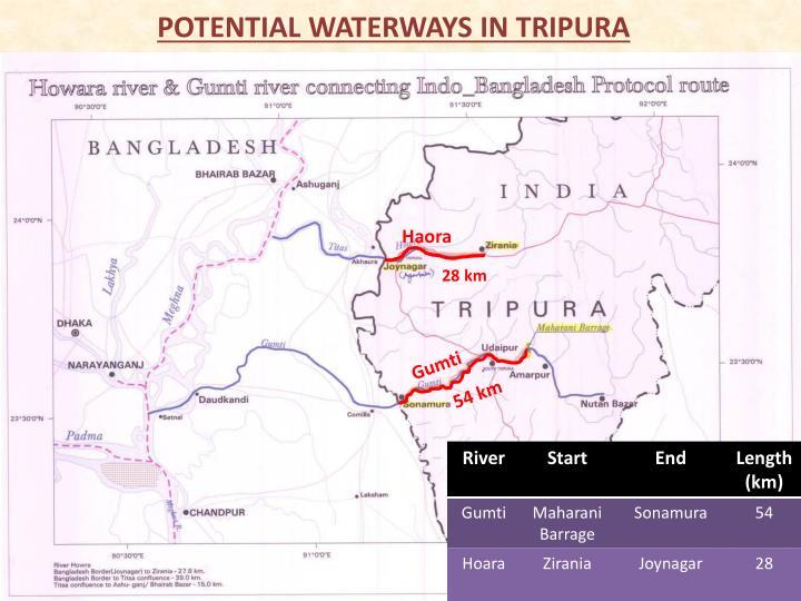 POTENTIAL WATERWAYS IN TRIPURA