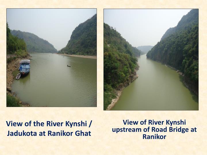 View of the River Kynshi / Jadukota at Ranikor Ghat
