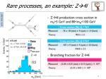rare processes an example z 4l