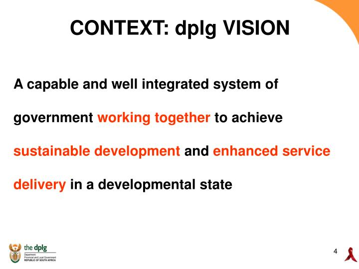 CONTEXT: dplg VISION