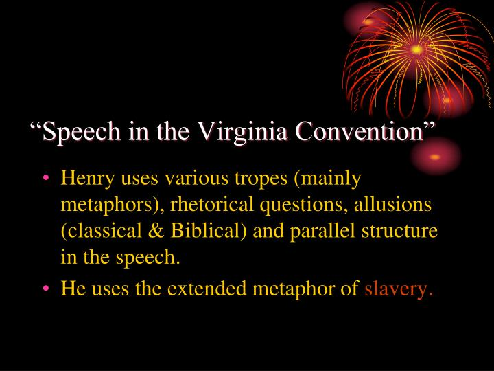 """Speech in the Virginia Convention"""