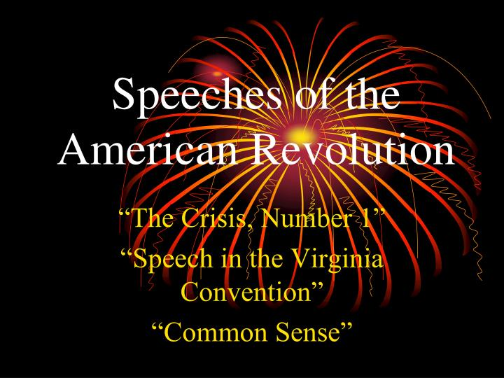 Speeches of the
