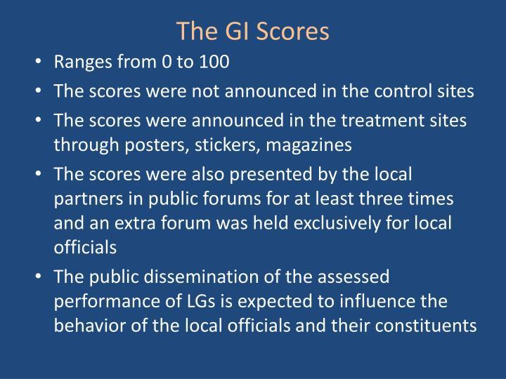 The GI Scores