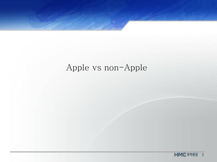 Apple vs non-Apple