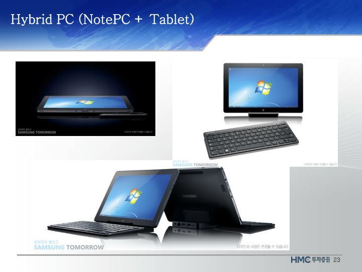 Hybrid PC (NotePC + Tablet)