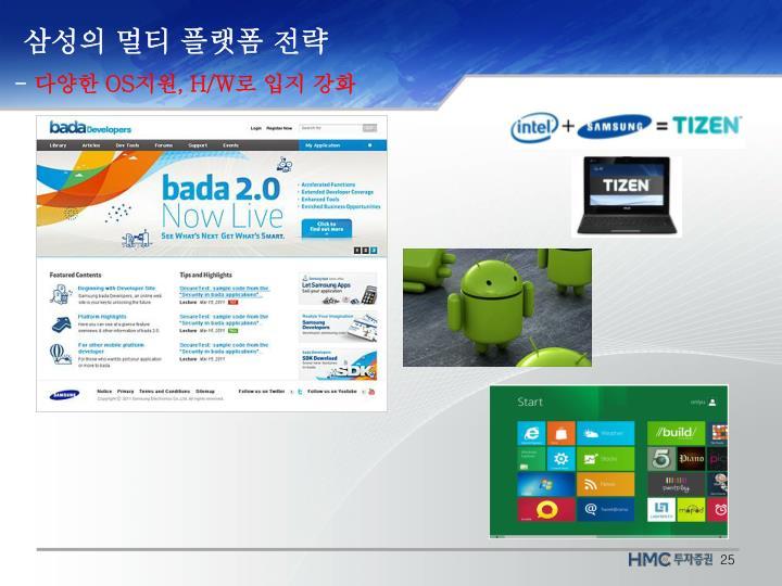 삼성의 멀티 플랫폼 전략