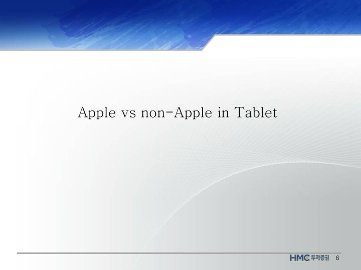 Apple vs non-Apple in Tablet