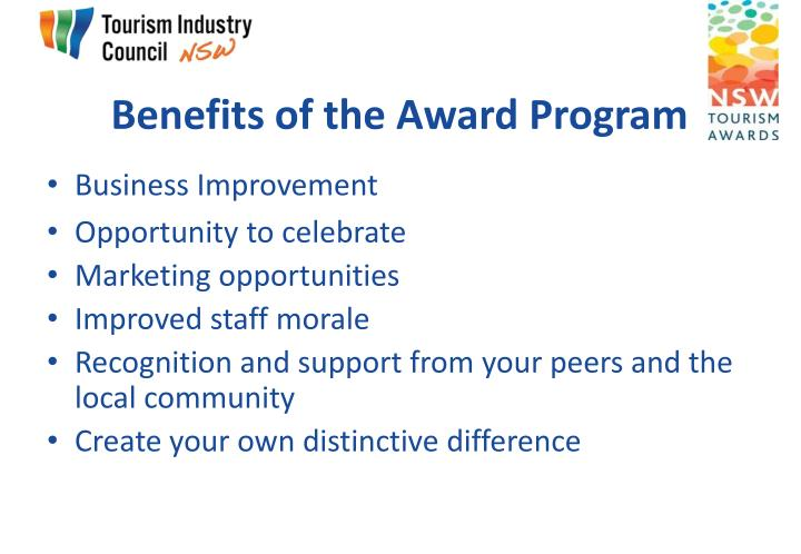 Benefits of the Award Program