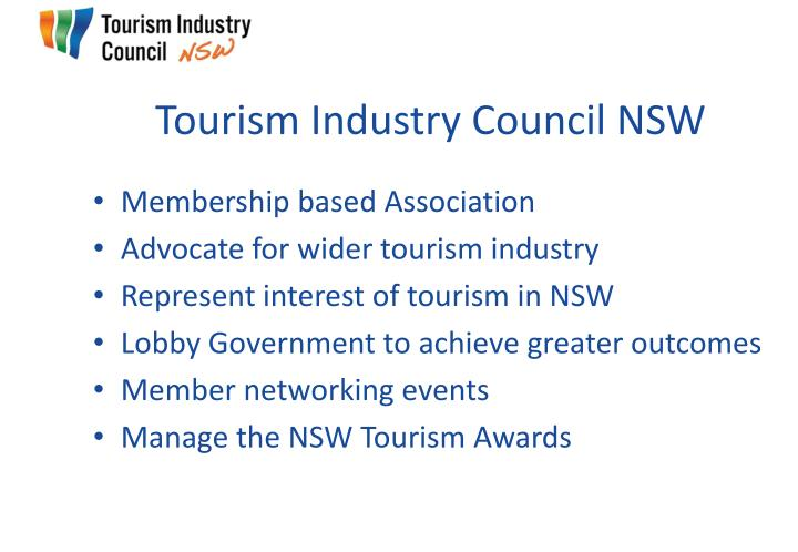 Tourism industry council nsw