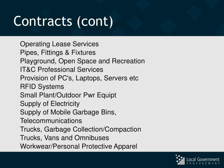 Contracts (cont)