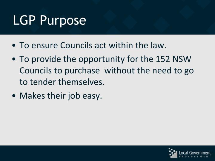 LGP Purpose