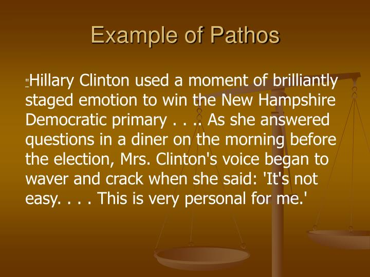 Example of Pathos