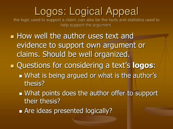 Logos: Logical Appeal