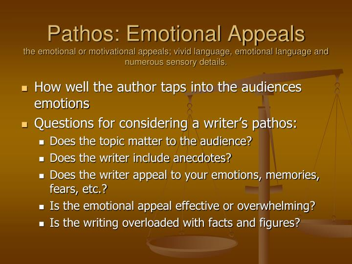 Pathos: Emotional Appeals